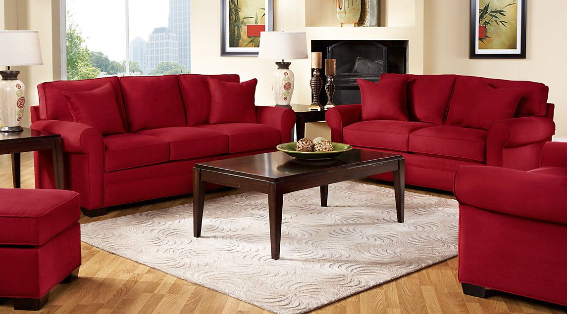 45++ Red couch living room set ideas