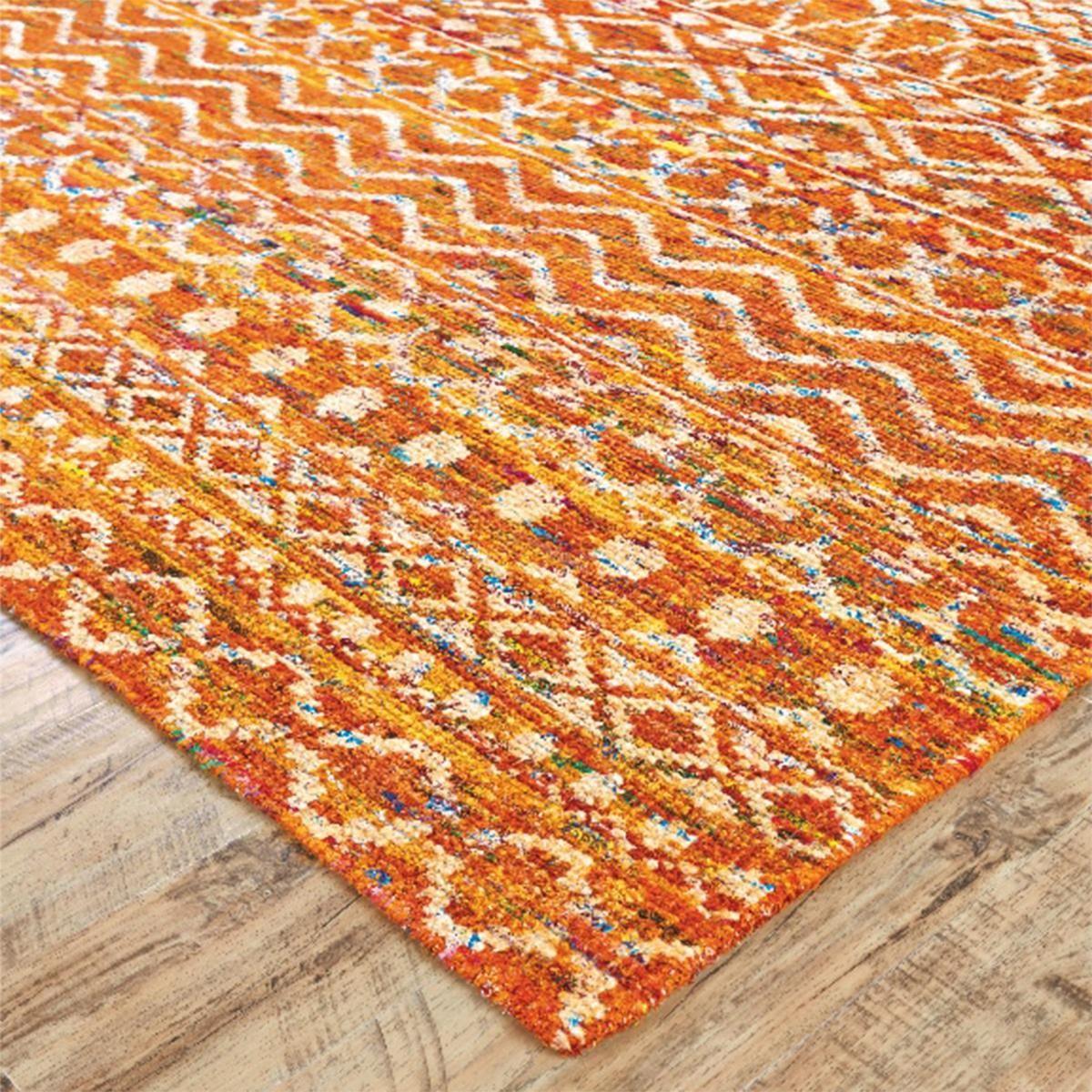 Vibrant Recycled Sari Rug