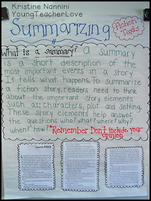 YoungTeacherLove: Writing fiction summaries using a VERY simple graphic organizer and mentor texts!