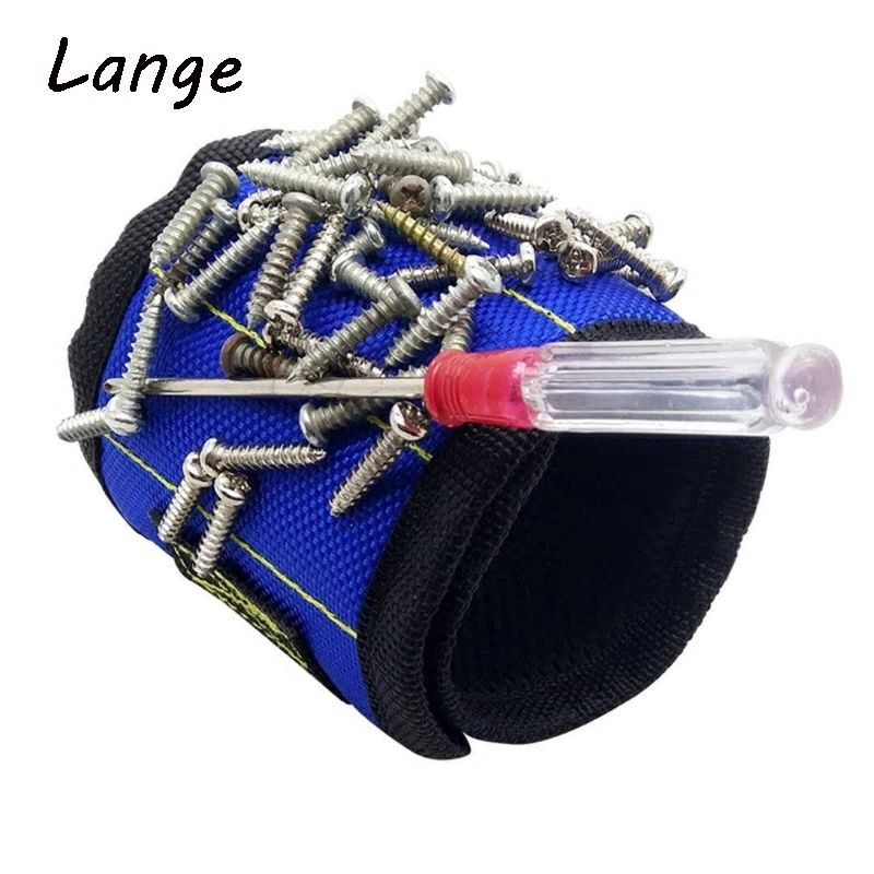 Tools Strong Magnetic Magnet Wristband Pocket Wrist Support Tool Bag Hand Bracelet Pouch Bag Screws Drill Holder Holding Storage Bag Tool Organizers
