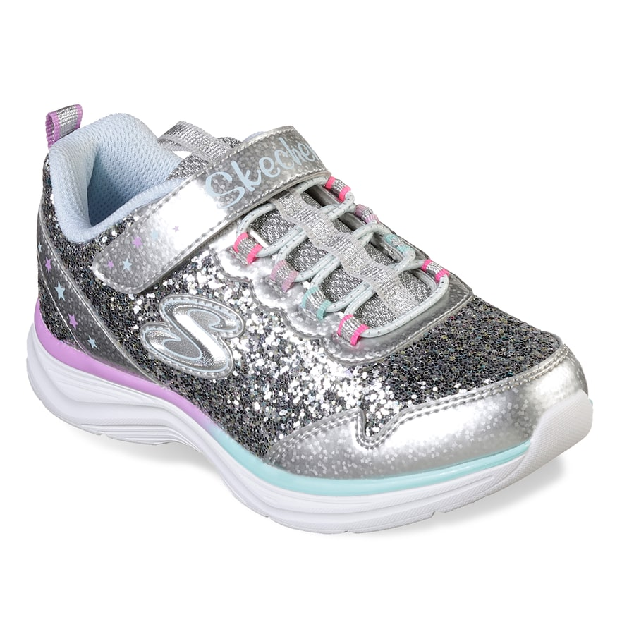 Girls Kids Sparkle Slip On Flat Casual Comfort Walking Pumps Shoes Trainers Size