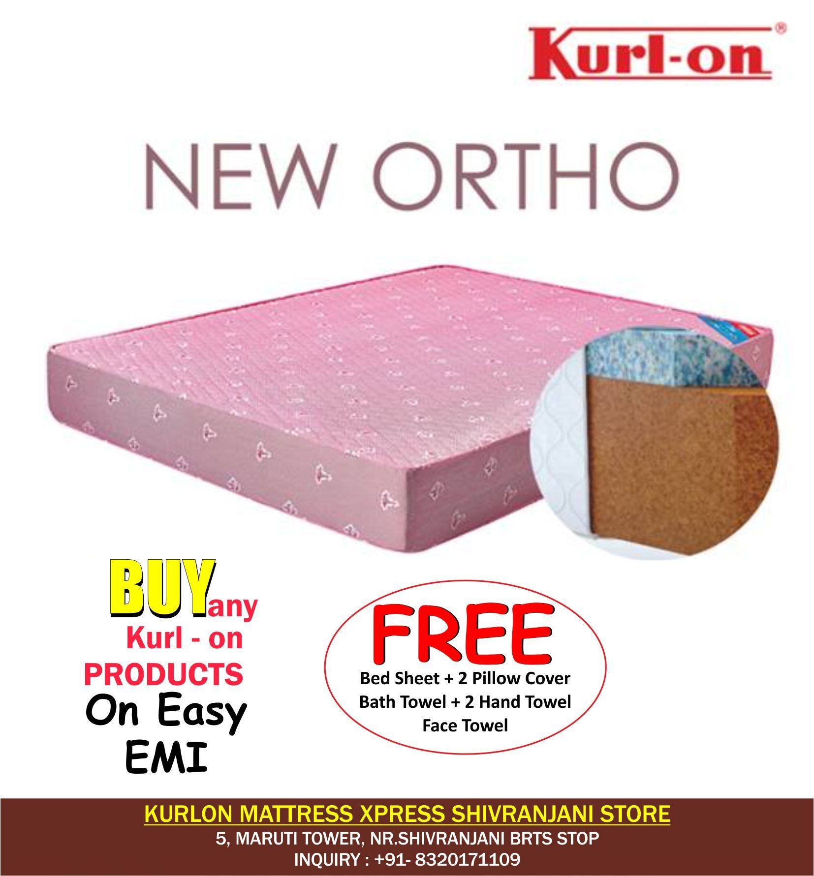 Pay Rs.1 & Get Mattress On Easy EMI Get Free Bedsheet