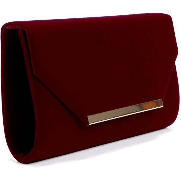 unparalleled new list hoard as a rare commodity Burgundy Crushin' on You Velvet Clutch ($19) ❤ liked on ...