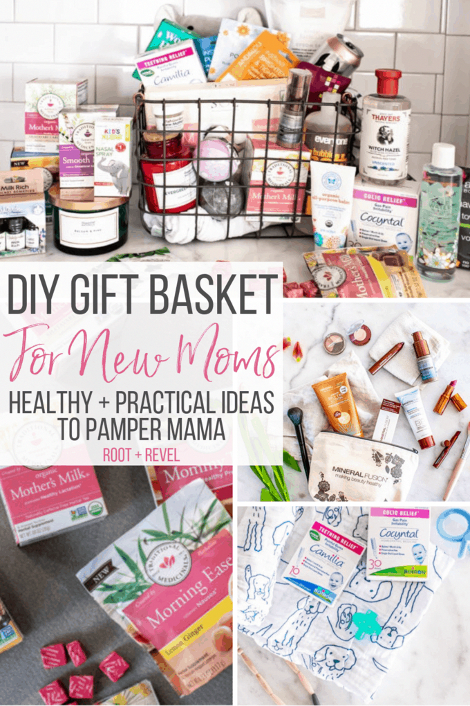 Need A Gift Idea For The New Mama In Your Life In This Diy New Mom Gift Basket We Ve Put Together A Cr In 2020 Mom Gift Basket New Mom Gift