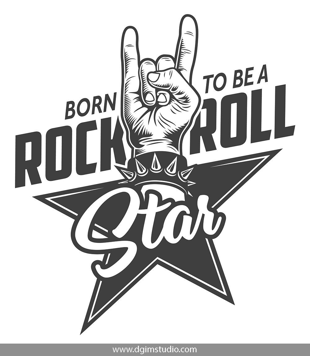 Rock Roll Designs Bundle Rock Sign Rock And Roll Rock