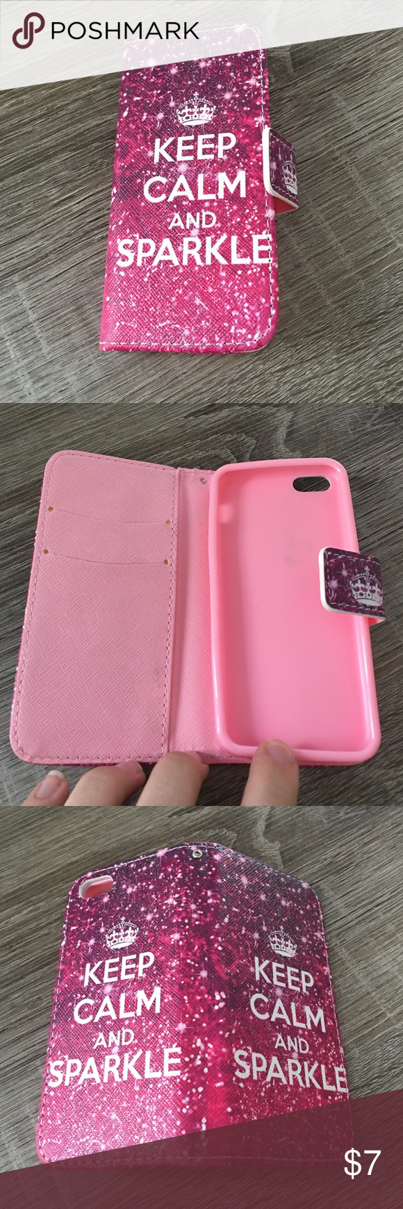 🌹Iphone 5c case Iphone 5c case. Magnetic closure. Slots for 2 cards Accessories Phone Cases