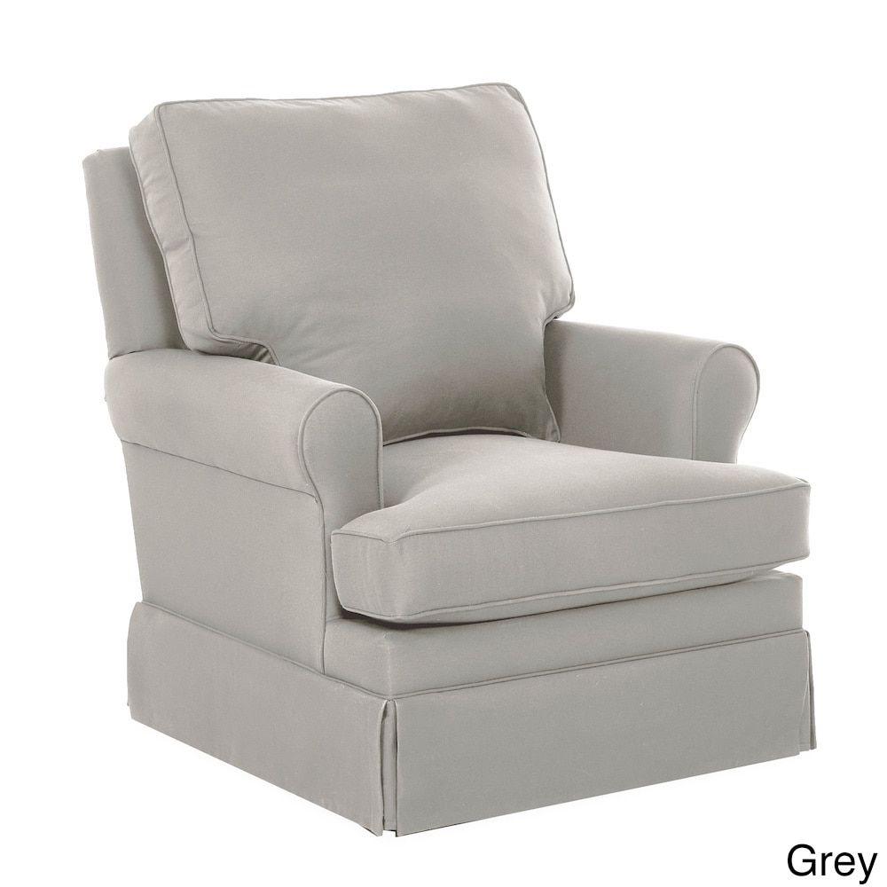 Klaussner Furniture Gwinnett Swivel Gliding Rocking Chair (Gwinnett Swivel Gliding Rocker - Grey) (Polyester)