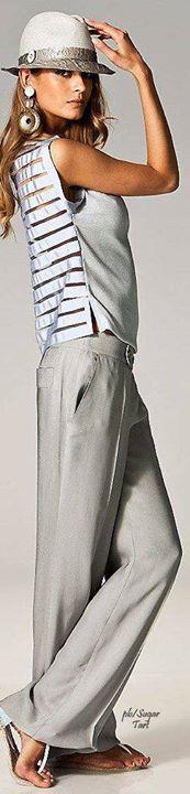 Mais um look lindo! <3   Procurando Calças Skinny? Aqui uma seleção  http://ift.tt/2arbqrG