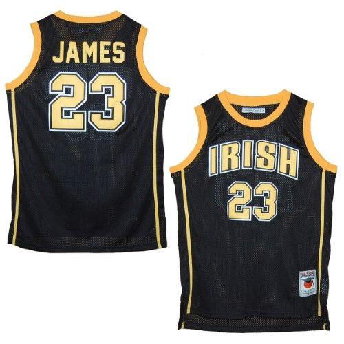 hot sale online 212bb f116e St. Vincent - St. Mary Fighting Irish Lebron James Black ...