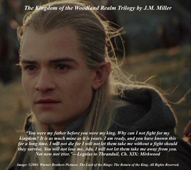 Legolas speaks to Thranduil in Chapter XIX: Mirkwood of ...