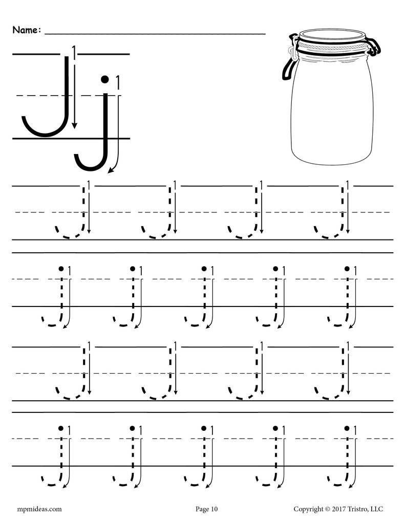 Printable Letter J Tracing Worksheet With Number And Arrow Guides Tracing Worksheets Preschool Letter Tracing Worksheets Tracing Worksheets [ 1024 x 791 Pixel ]