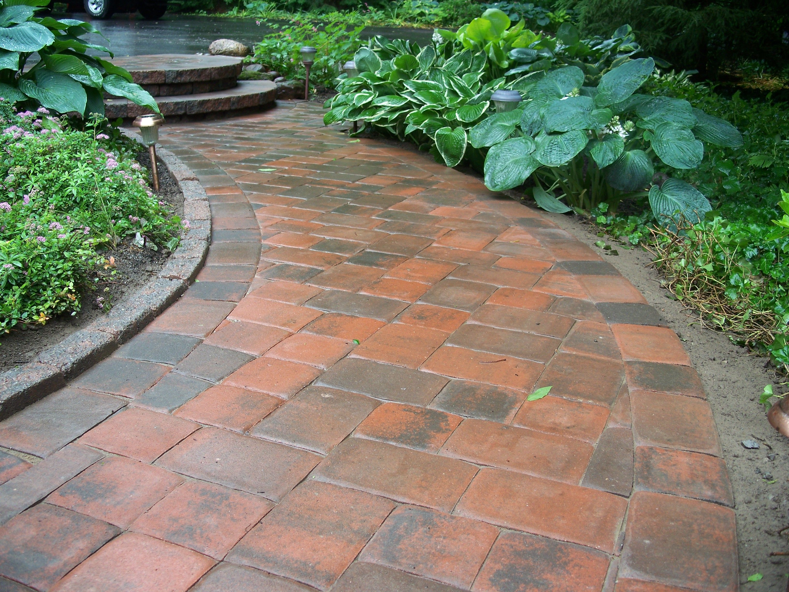 A unique pathway to your home! Installed by Bristol\'s Garden Center ...