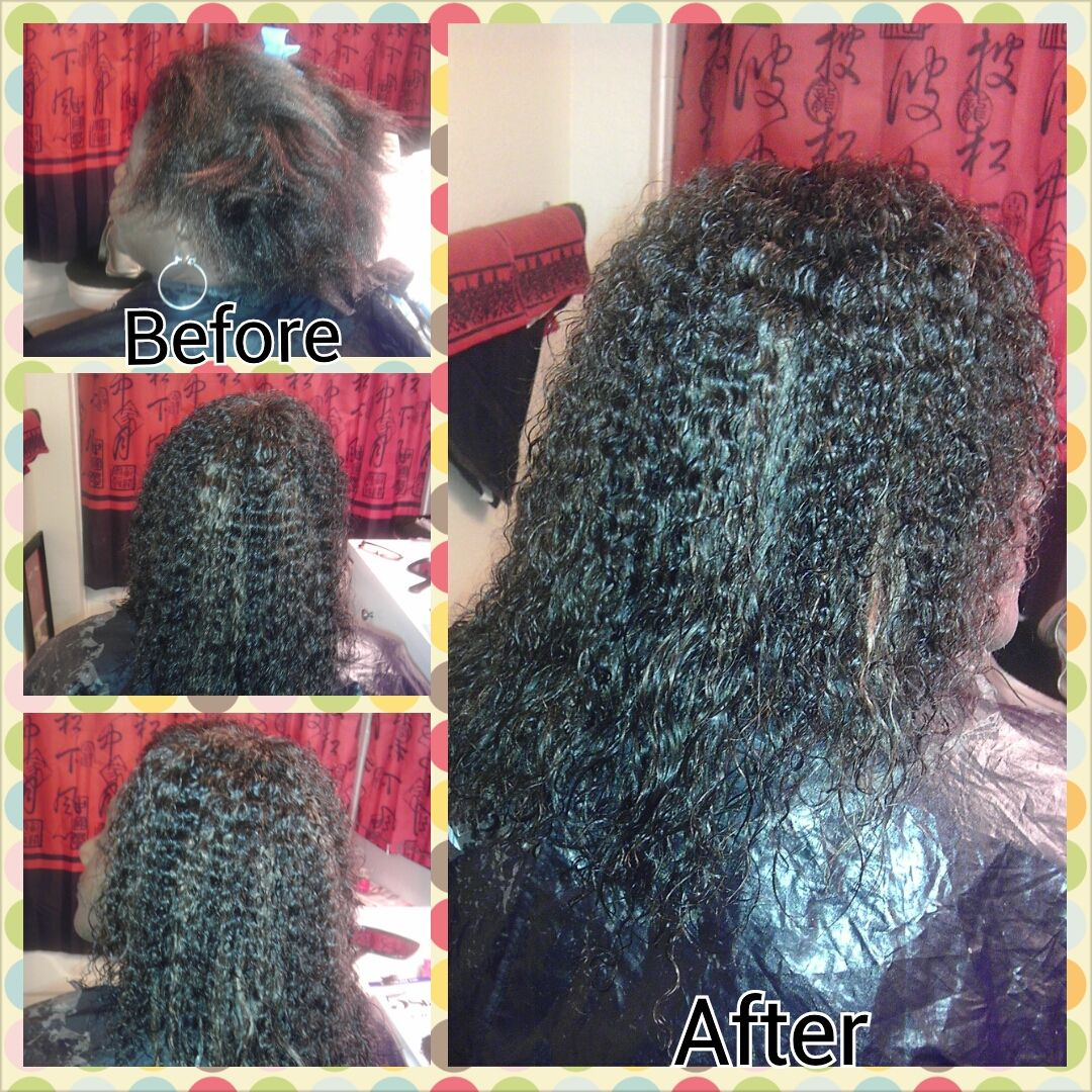 full sew in no leave out with wet & wavy hair (return client