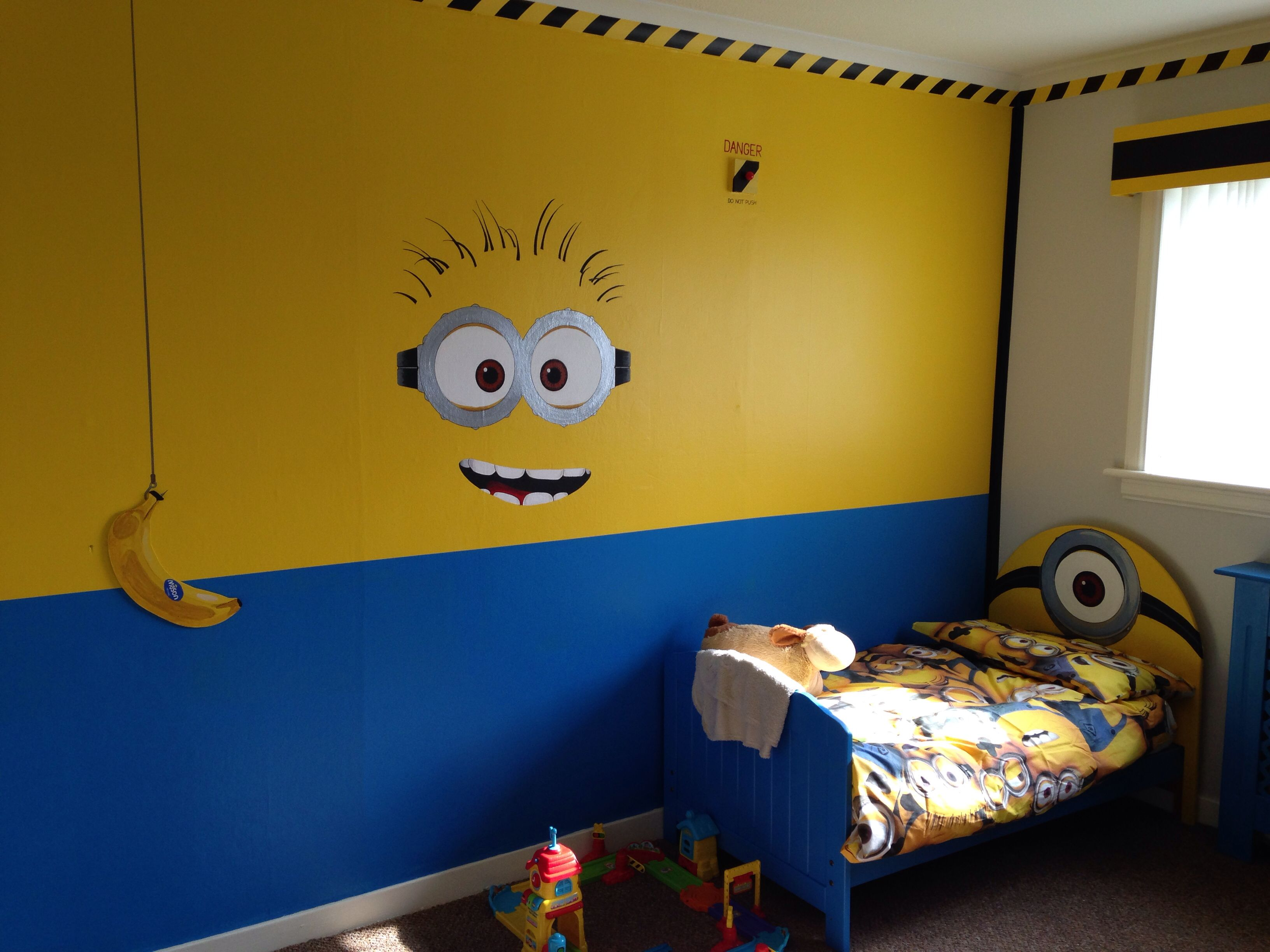 Pin By Emily Greene On Ethans New Room Minion Bedroom Minion Room Minion Room Decor