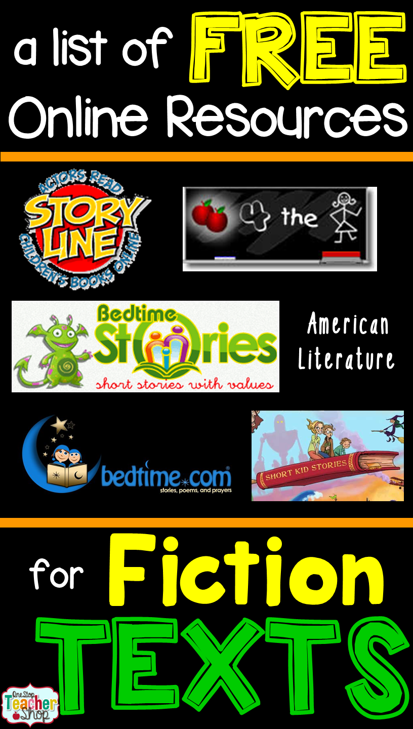 FREE Fiction Reading Websites for Kids Reading websites