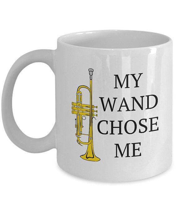 d7e5c092 Funny Trumpet Mug - Trumpet Player Gift - Trumpeter Present Idea - Harry  Potter Parody - My Wand Cho