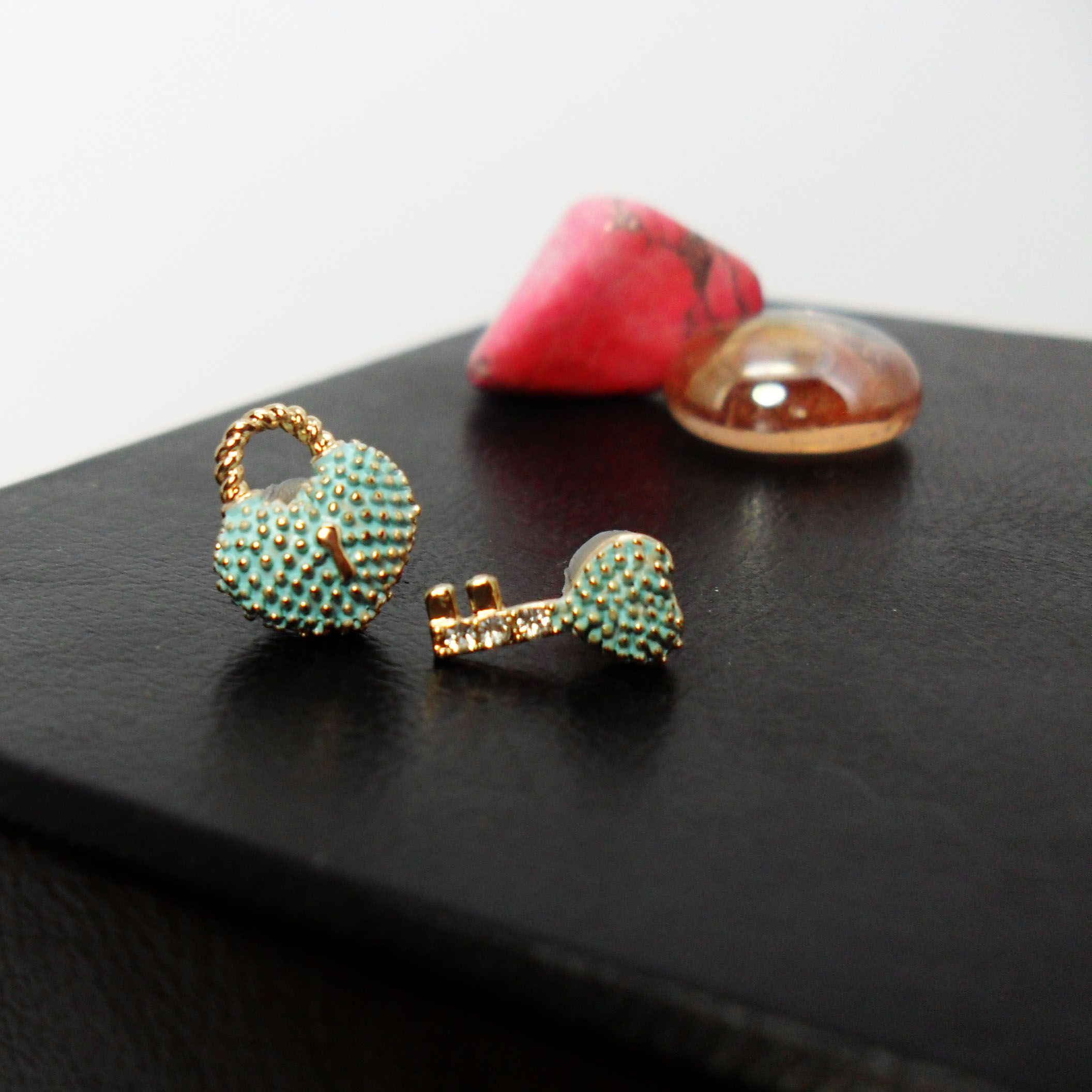 mismatched stud earrings pin initial