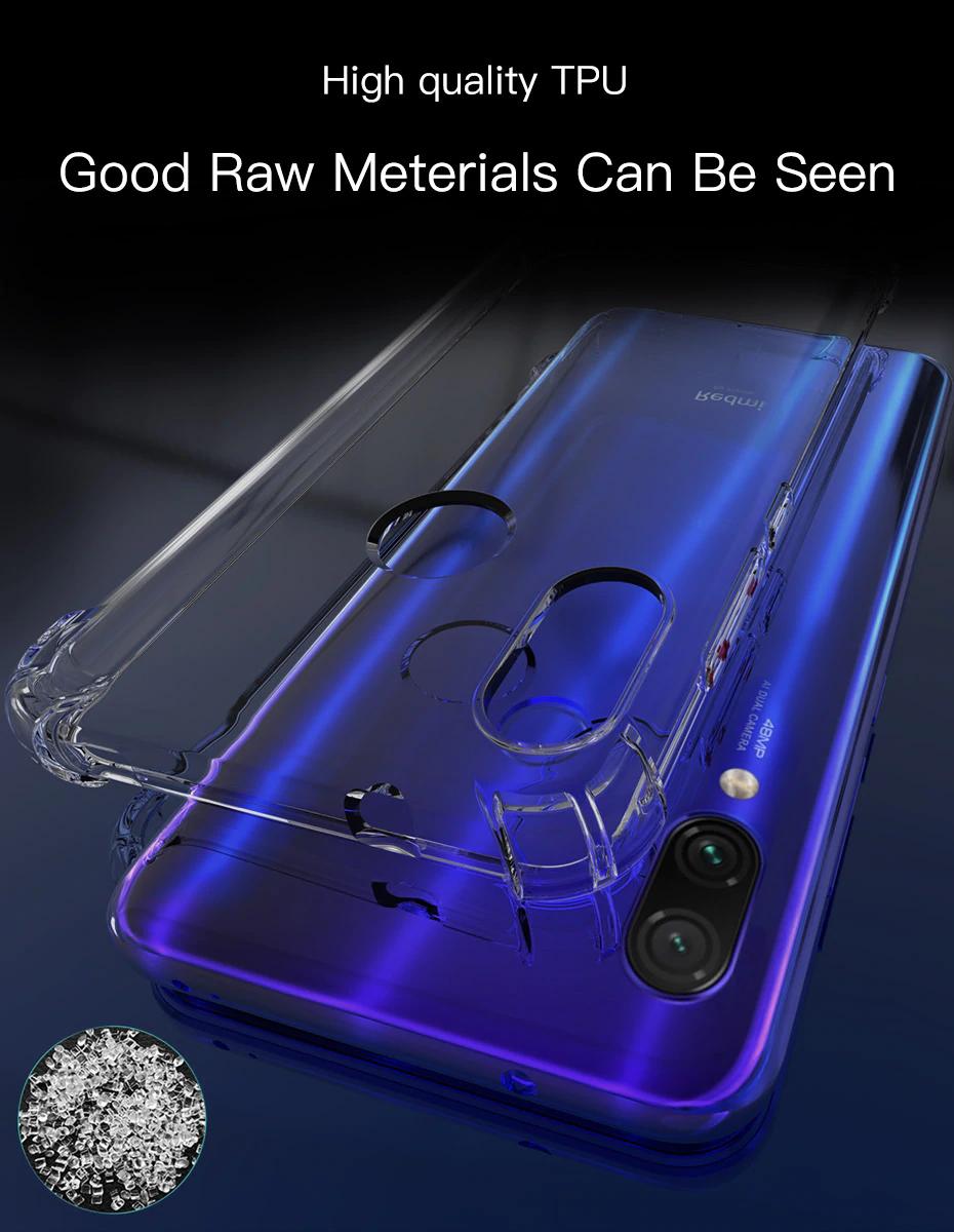For Xiaomi Redmi Note 7 8 Case Cover Silicone Shockproof Case Cover Phone Case Cover Xiaomi