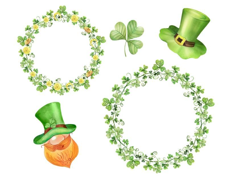 St Patrick S Day Slipart Watercolor Clipart Instant Etsy In 2021 Watercolor Clipart Balloons And More Scrapbooking Set