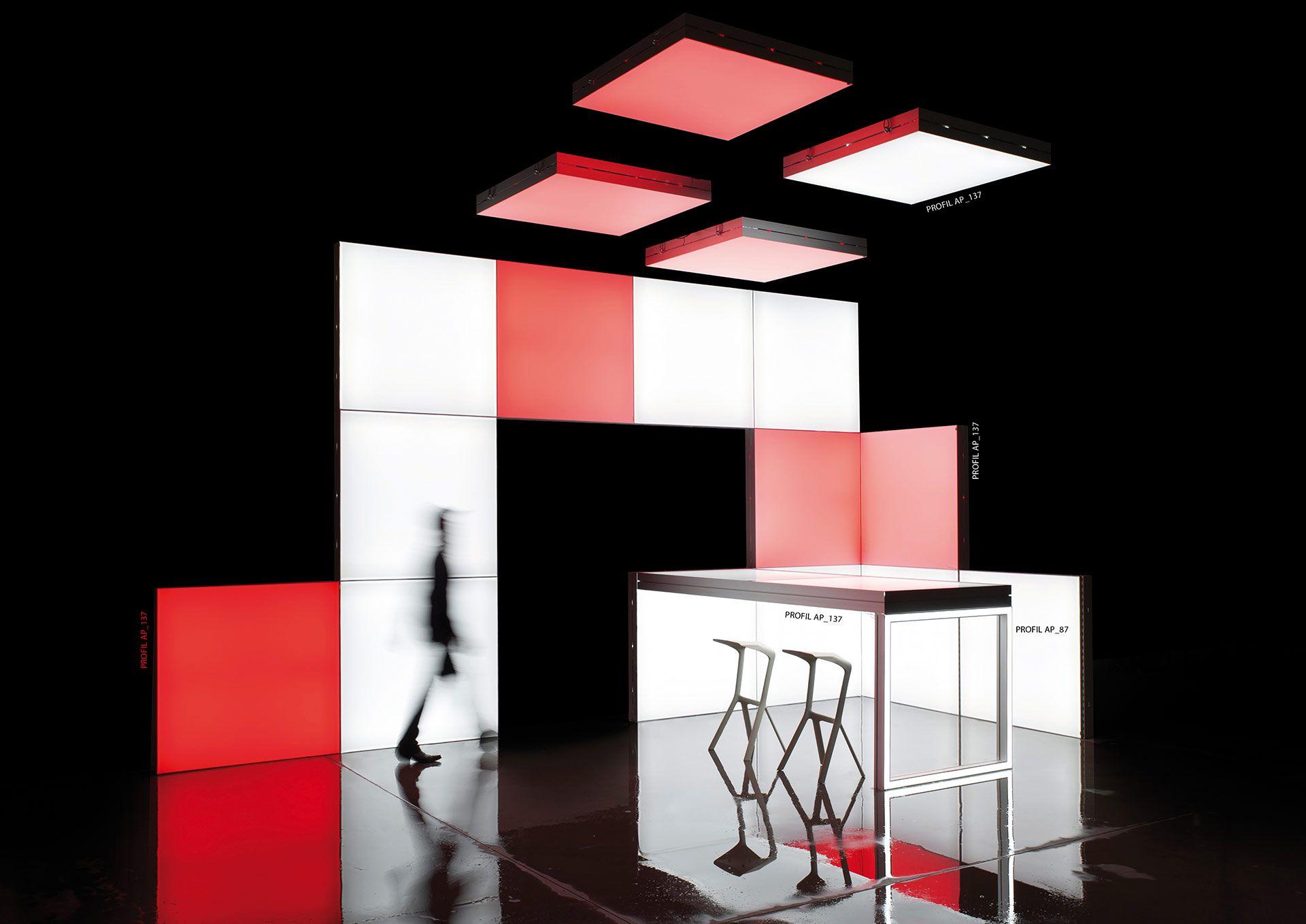 Lightbox Wall Frame Contour Table Modulap Modulare System Fur Visuelle Kommunikation Leicht Mobil Fur Messe Archit Messestand Design Messestand Messe
