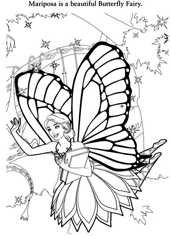 Barbie Mariposa Is A Beautiful Butterfly Fairy Coloring Pages Bulk Color In 2020 Butterfly Coloring Page Fairy Coloring Pages Fairy Coloring