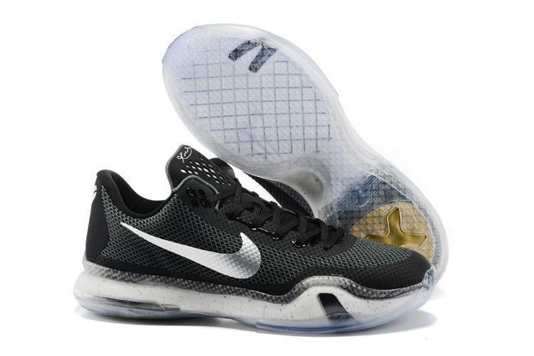 black · nike kobe x 10 black white basketball shoes