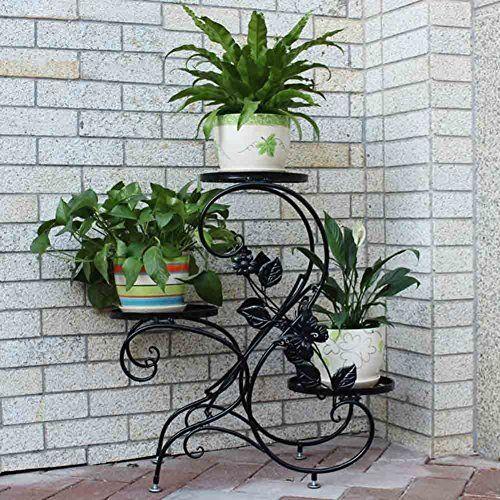 Tectake estantes para plantas escalera met lica macetas for Estanteria plantas interior