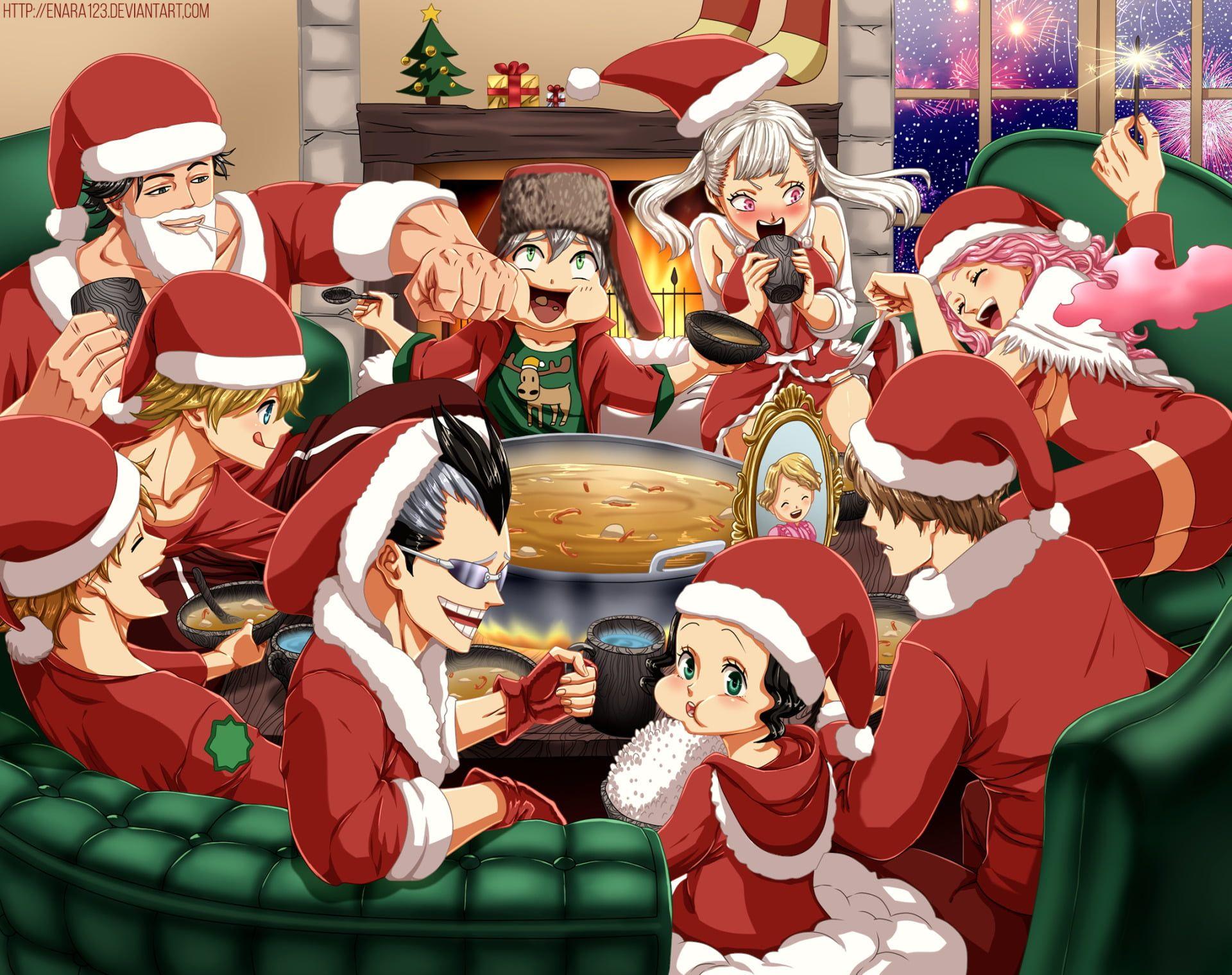 Anime Black Clover Asta Black Clover Luck Voltia Magna Swing Noelle Silva Vanessa Enoteca Yami Sukehir In 2020 Black Clover Anime Anime Christmas Black Clover Manga