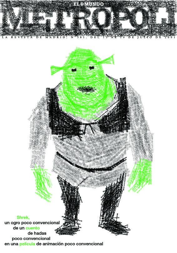 Shrek. Metropoli Editorial design, Cover design, Shrek