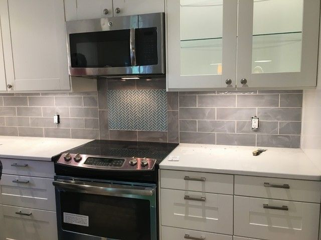 kitchen backsplash tile bulevar grey ceramic wall tile 4 x 12 in
