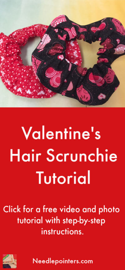 How to Sew a Hair Scrunchie | Needlepointers.com #hairscrunchie