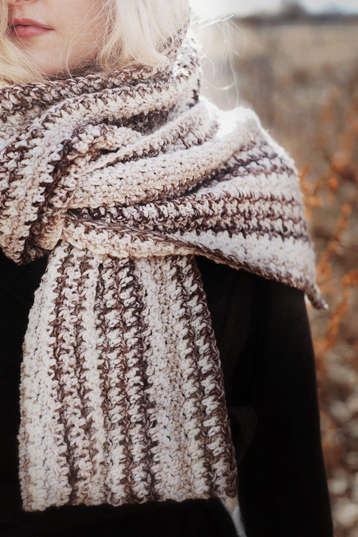 CROCHET PATTERN ⨯ Easy Houndstooth Crochet Scarf Crochet ...