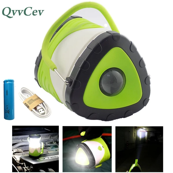 LED USB Camping Flashlight Lantern Light Torch Stage Disco Lamp Portable 3-in-1