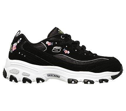 936c333394d2 Skechers Women s D lites Bright Blossoms Memory Foam Sneakers (Black Multi)