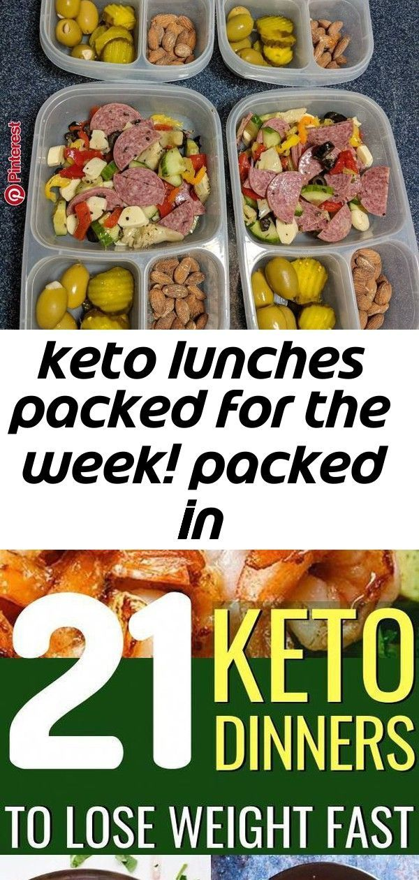 Keto lunches packed for the week! packed in 2 Keto lunches packed for the week! packed in Scientif