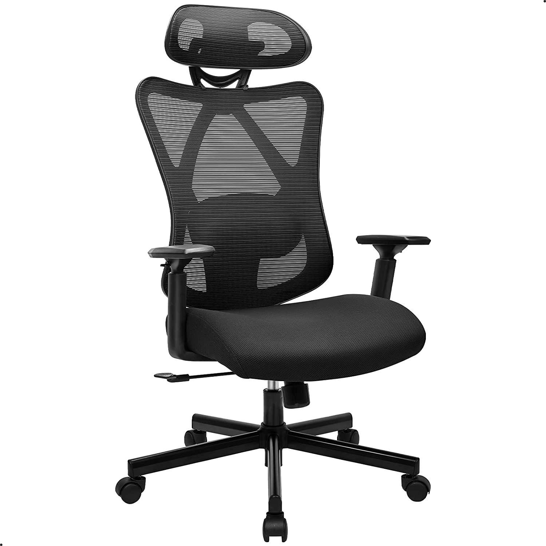 BASETBL Chaise de Bureau, Fauteuil de Bureau, Fauteuil Ergonomique avec Appui-Tête Chaise Réglable