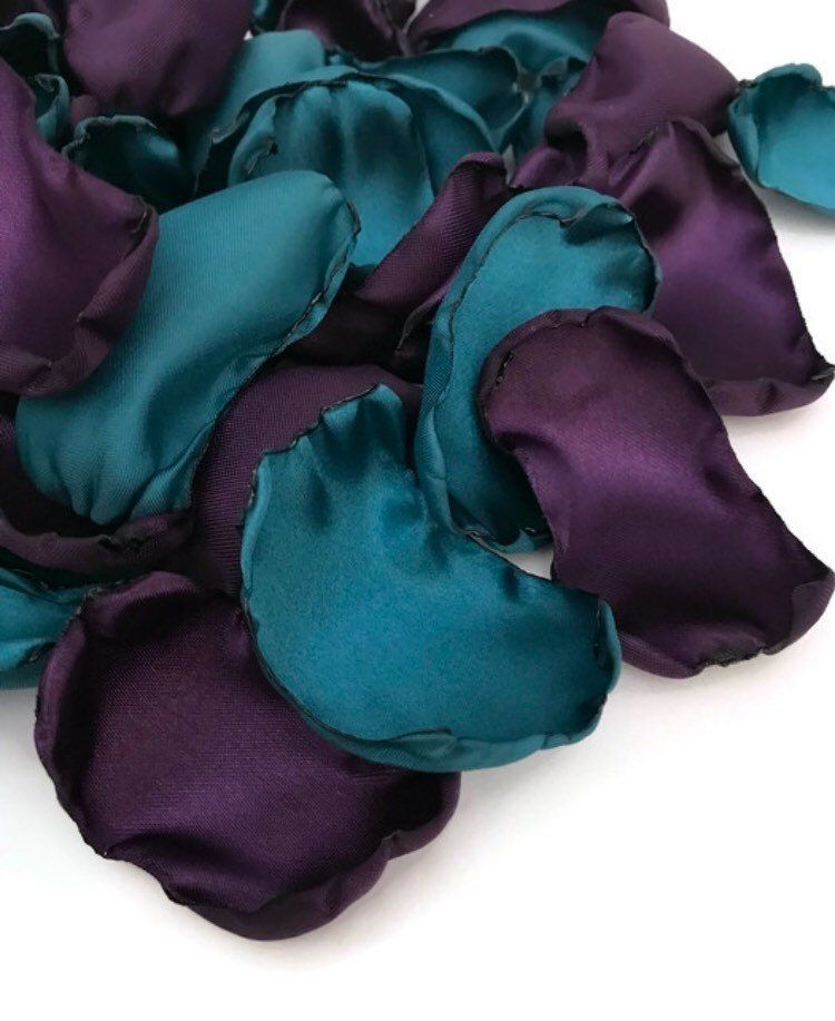 Dark Teal Purple Flower Petals Teal Rose Petals Flower Girl