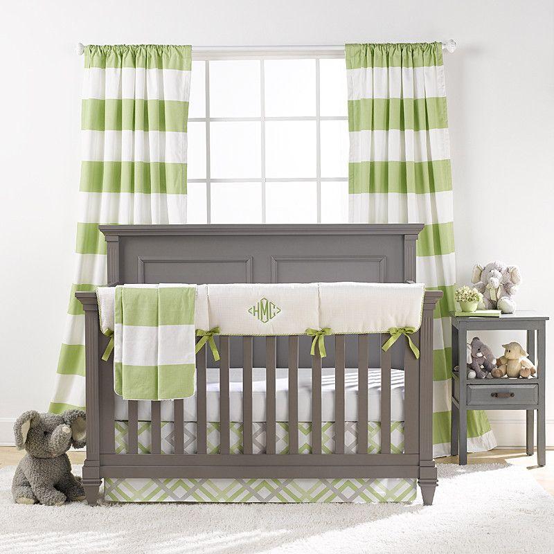 Kiwi Green Crib Bedding Set Green Baby Bedding Bumperless Crib