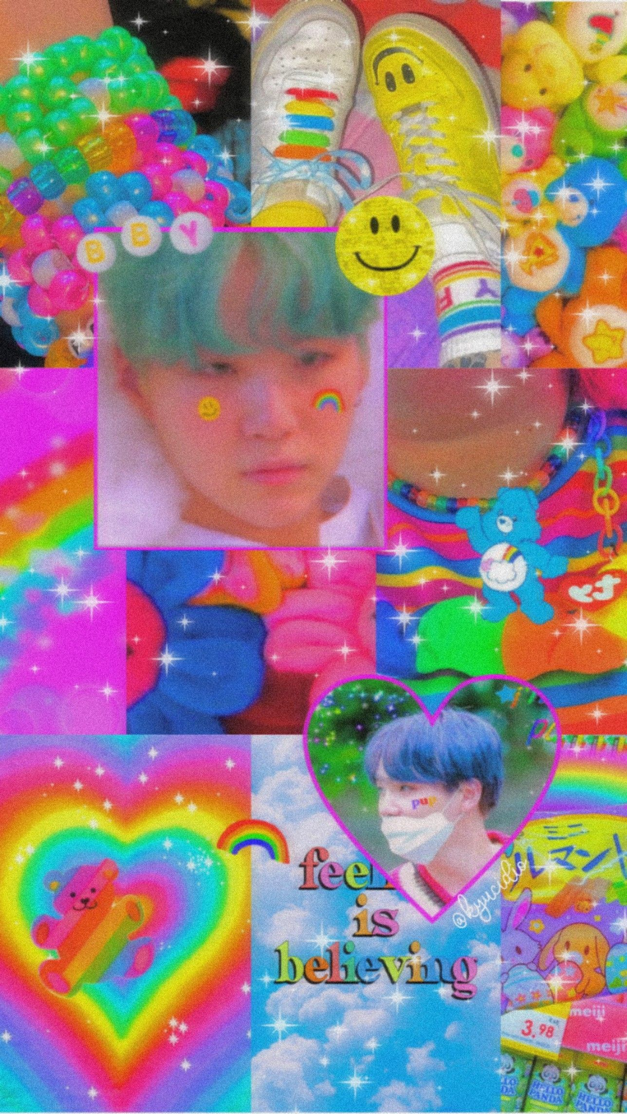 Yoongi Kidcore Rainbow Wallpaper Iphone Pretty Wallpaper Iphone Hippie Wallpaper We hope you enjoy our rising collection of bts wallpaper. yoongi kidcore rainbow wallpaper