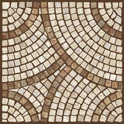 Fliesensticker Mosaik Kreis Braun Fliesenaufkleber 10x10 Cm Glas