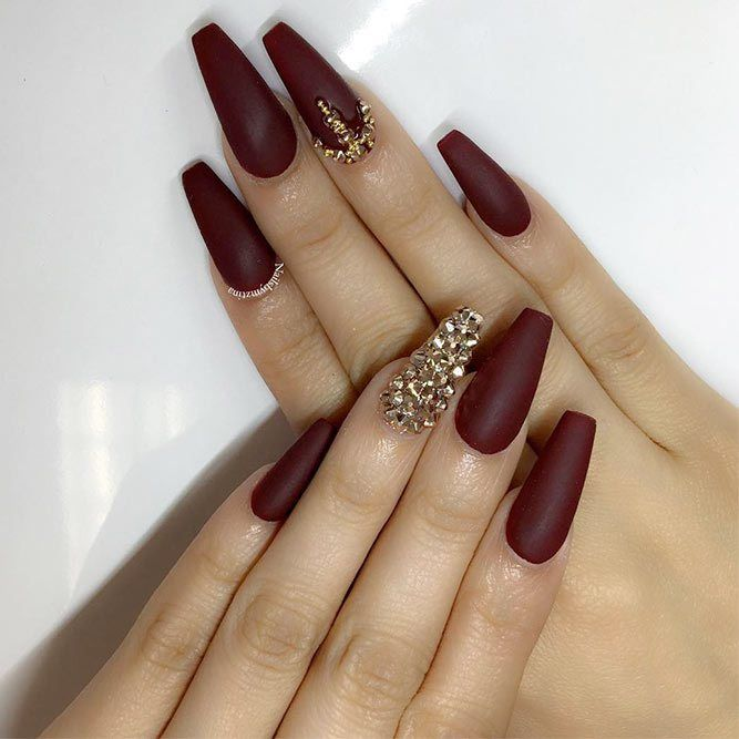 21 Stunning Burgundy Nails Designs That Will Conquer Your Heart Maroon Nails Burgundy Matte Nails Burgundy Nail Designs