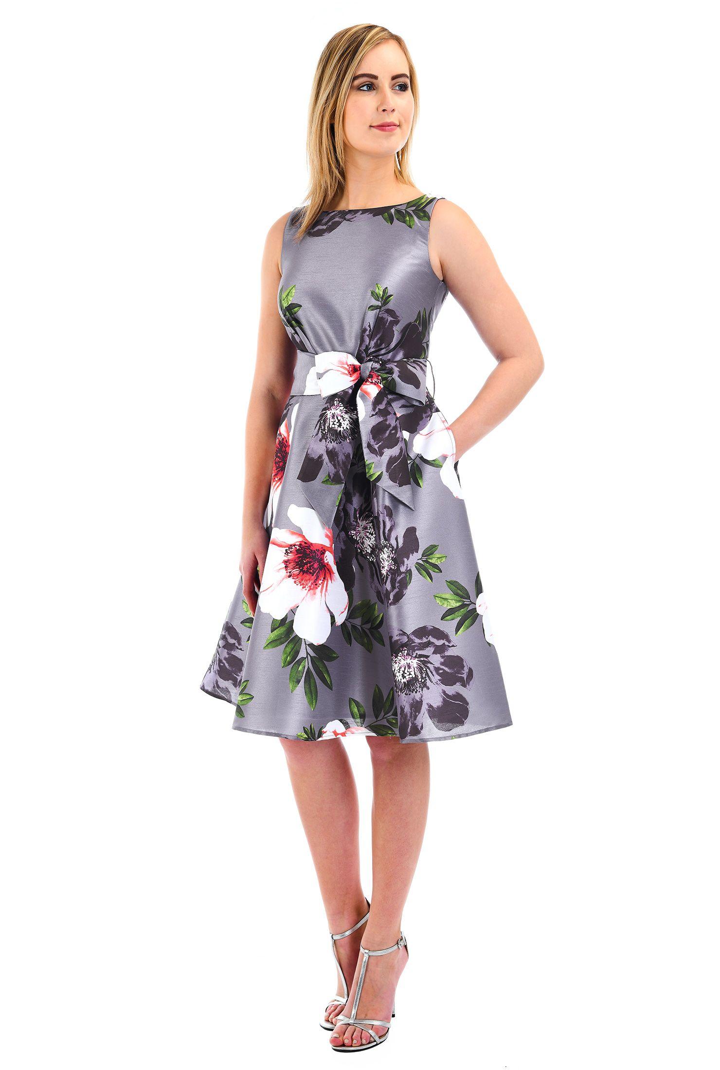 Back zip dresses below knee length dresses boat neck dresses dry