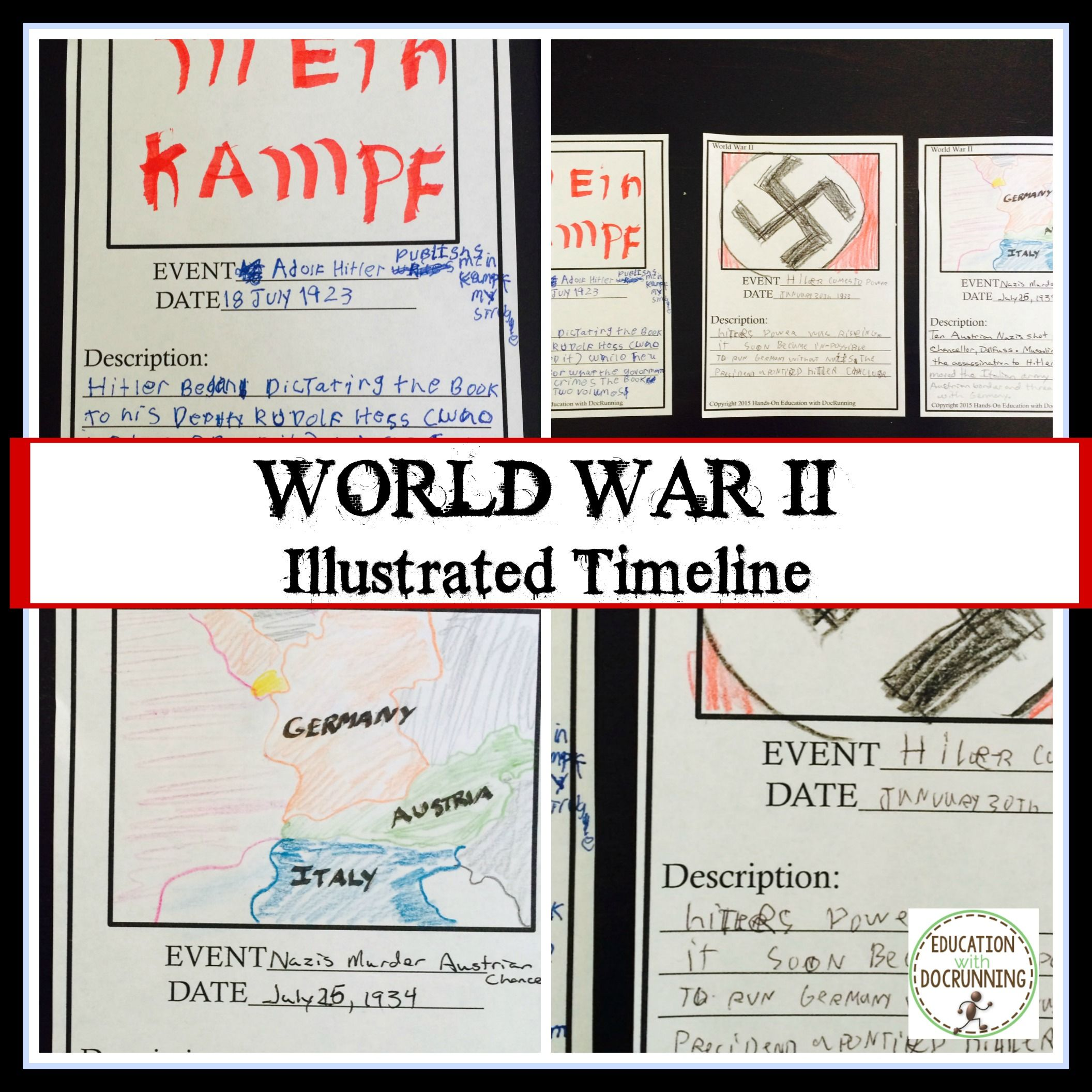 World War  Illustrated Timeline Activity Or Collaborative Project