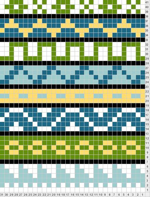 easy way to create your fair isle, folk scarf motif1 | mallineule ...