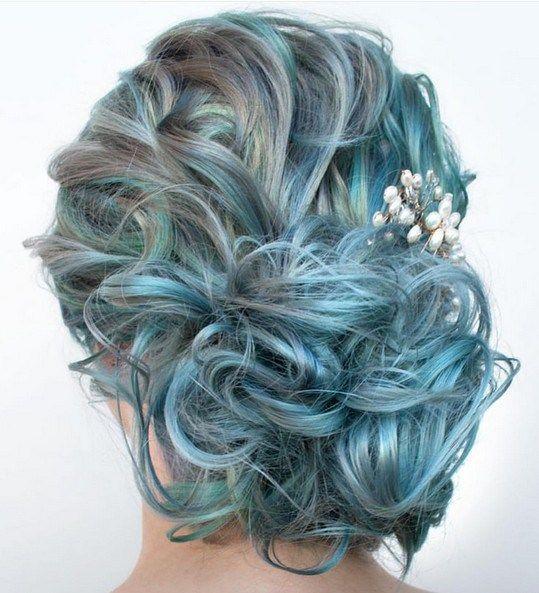 Blue Updo
