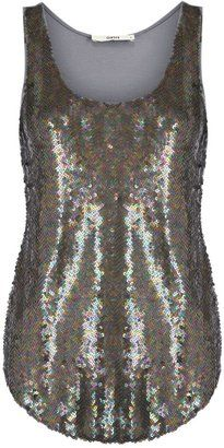 b55756a1d60f Women's Oasis Petrol sequin longline vest from House of Fraser - £ 38
