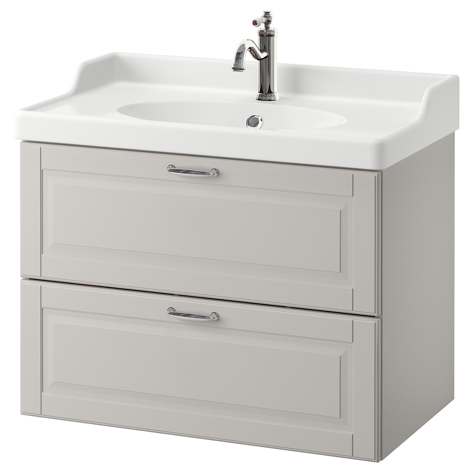godmorgon r ttviken sink cabinet with 2 drawers kasj n light gray rh pinterest com