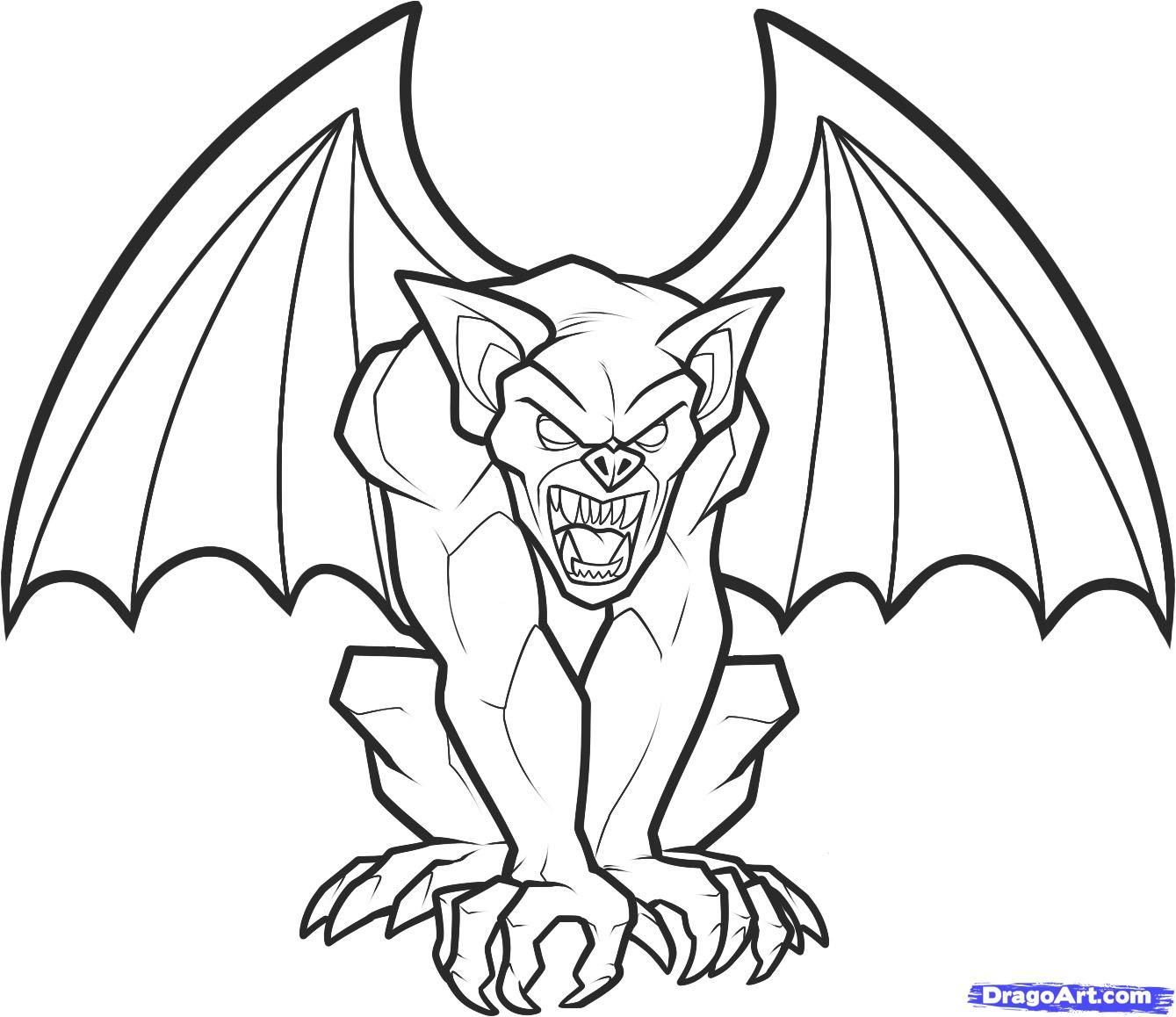 hight resolution of how to draw a gargoyle step 9