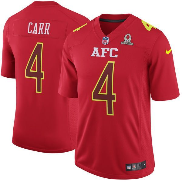 Men AFC Oakland Raiders 4 Derek Carr Nike Red 2017 Pro Bowl Game Jersey 321585bea