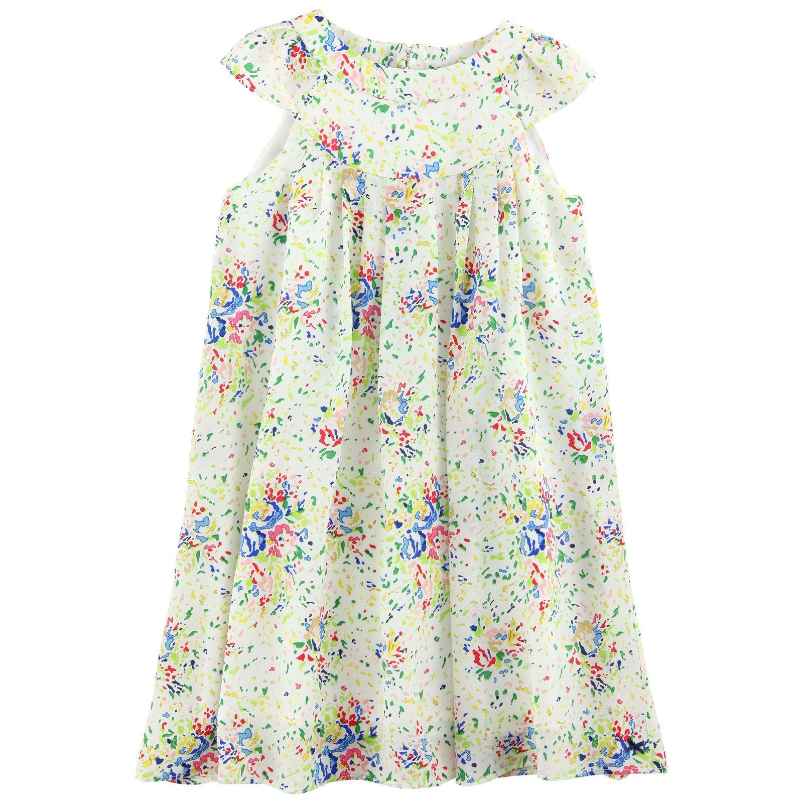 Paul smith junior flowerprinted silk dress kids fashion
